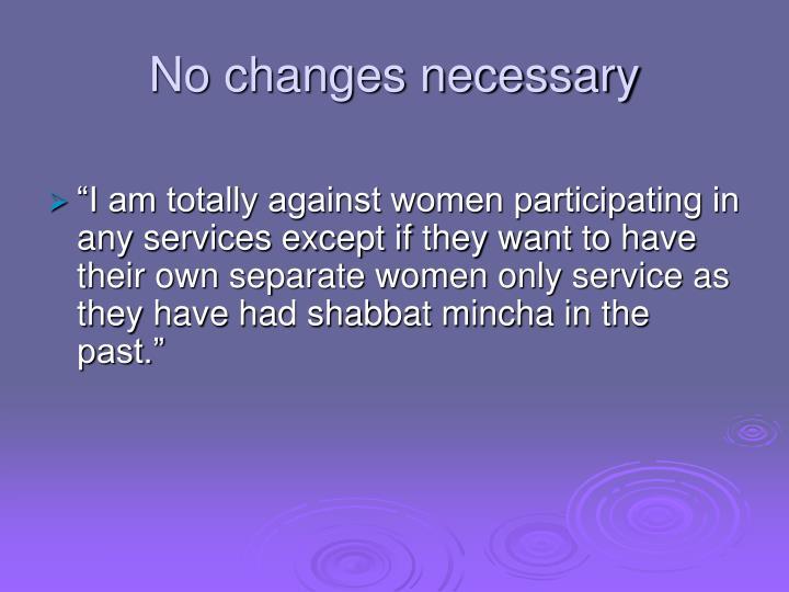 No changes necessary
