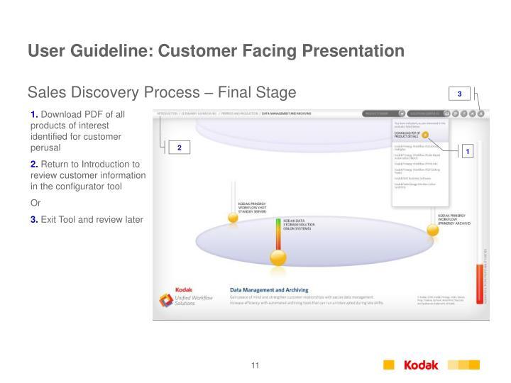 User Guideline: Customer Facing Presentation