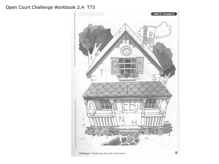 Open Court Challenge Workbook 2.4  T73