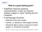 what is a good starting point