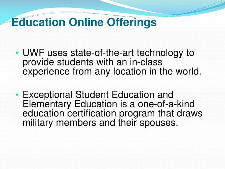 Education Online Offerings