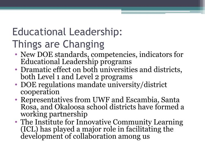 Educational Leadership: