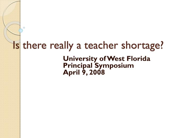 Is there really a teacher shortage?