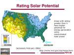 rating solar potential