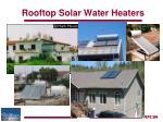 rooftop solar water heaters