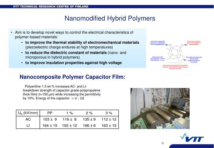 Nanomodified Hybrid Polymers