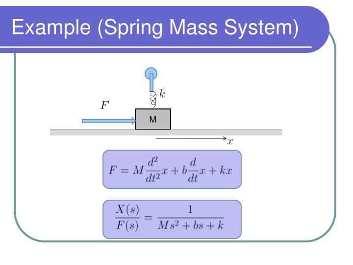 Example (Spring Mass System)