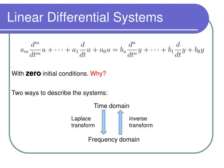 Linear Differential Systems
