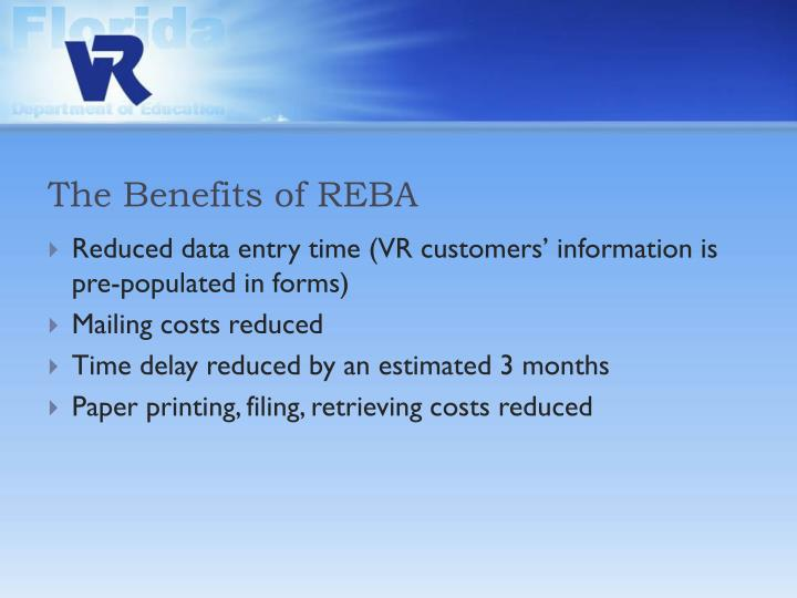 The Benefits of REBA