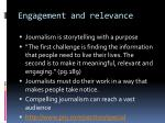 engagement and relevance8