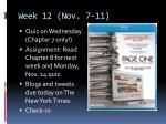 week 12 nov 7 11