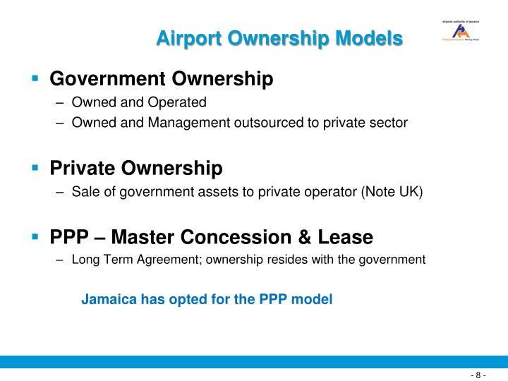 Airport Ownership Models