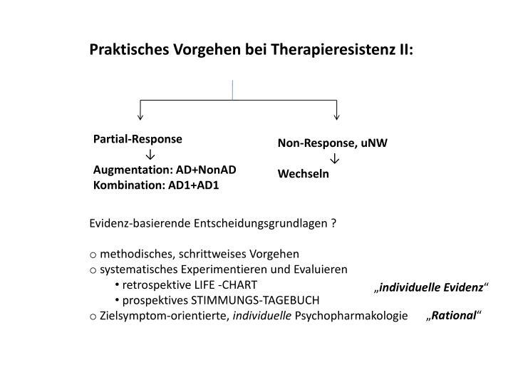 Praktisches Vorgehen bei Therapieresistenz II: