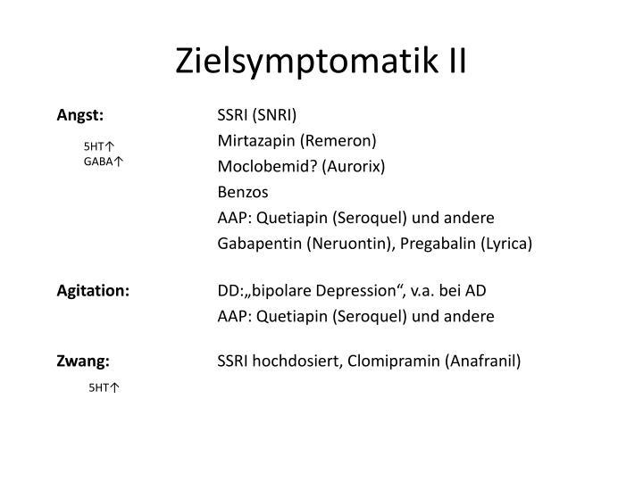 Zielsymptomatik II