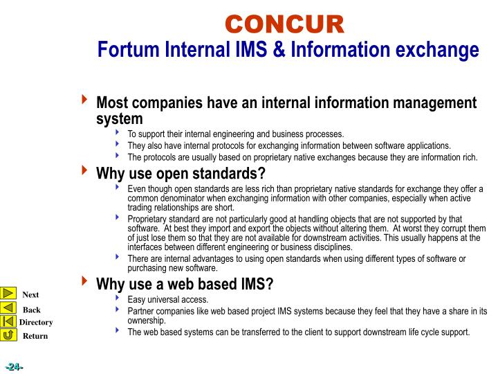 Most companies have an internal information management system
