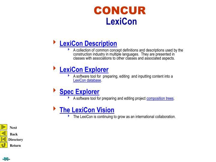 LexiCon Description