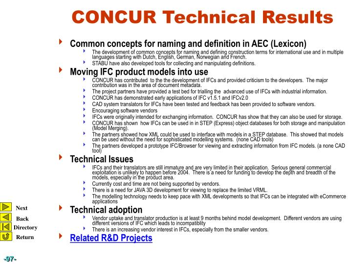 Common concepts for naming and definition in AEC (Lexicon)