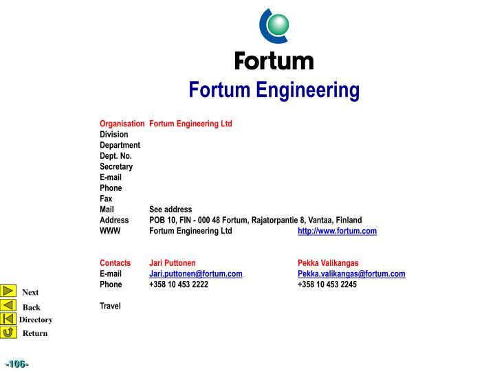 OrganisationFortum Engineering Ltd