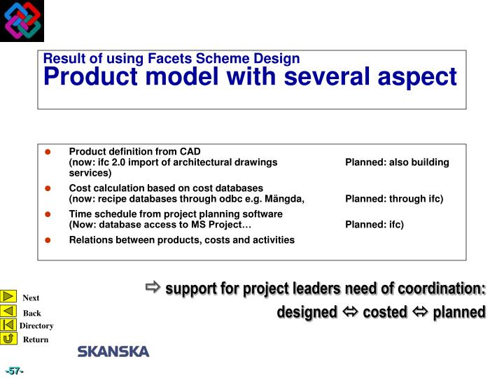 Product definition from CAD