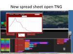 new spread sheet open tng