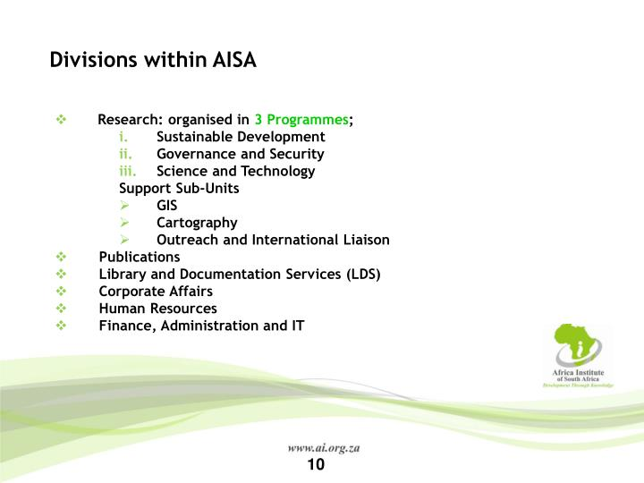 Divisions within AISA