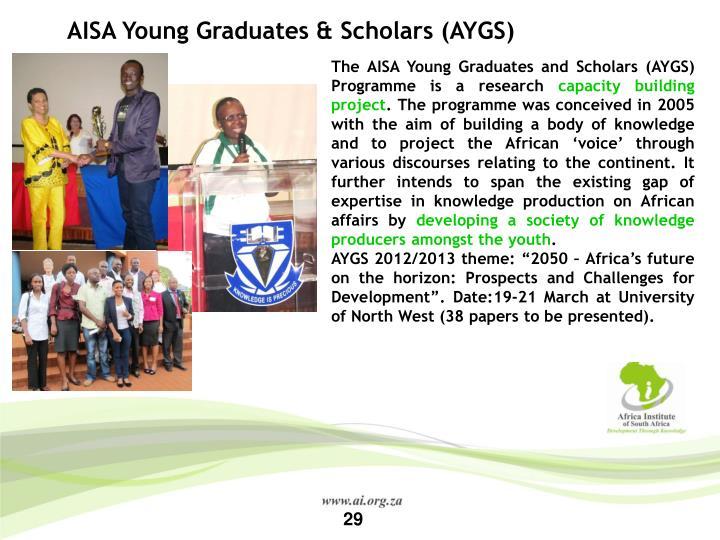 AISA Young Graduates & Scholars (AYGS)