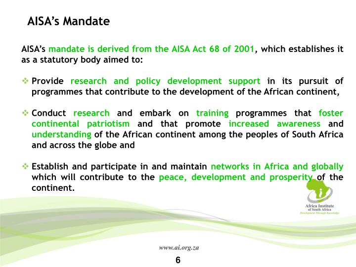 AISA's Mandate