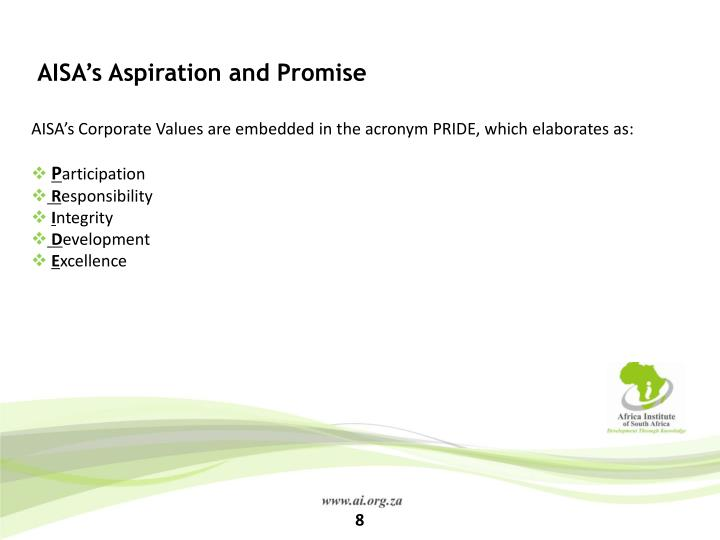 AISA's Aspiration and Promise