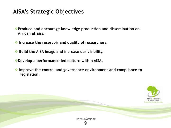 AISA's Strategic Objectives