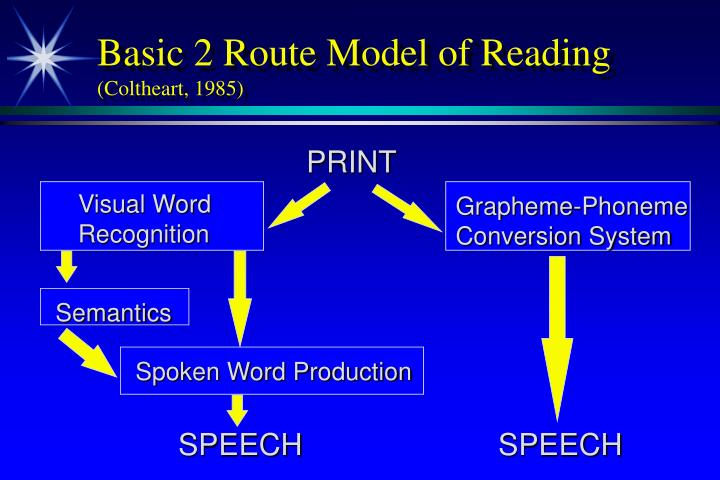 Basic 2 Route Model of Reading