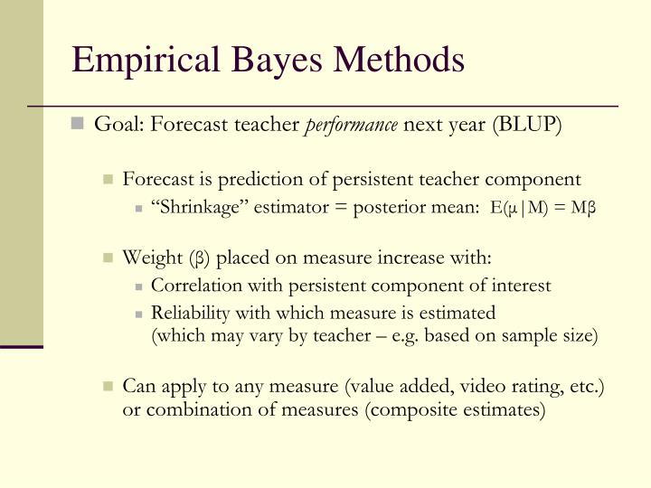 Empirical Bayes Methods