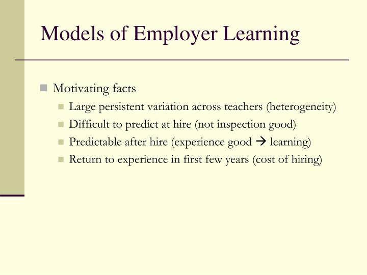 Models of Employer Learning