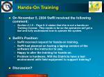 hands on training