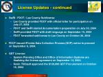 license updates continued2