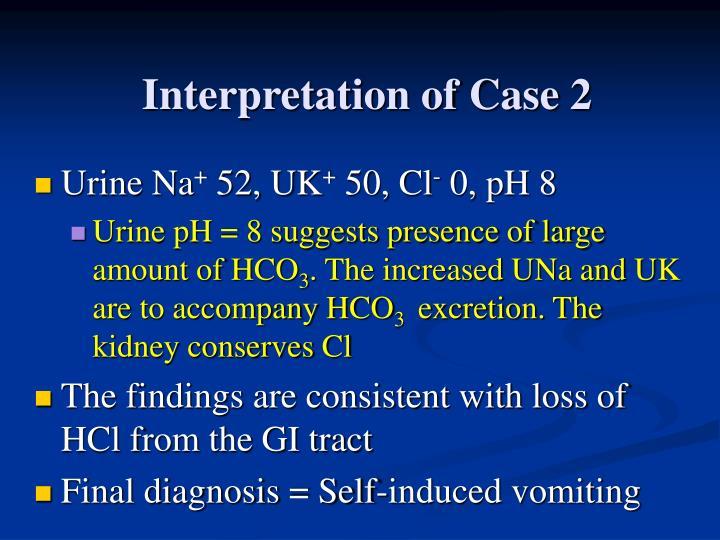 Interpretation of Case 2