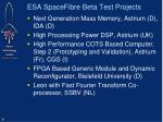esa spacefibre beta test projects