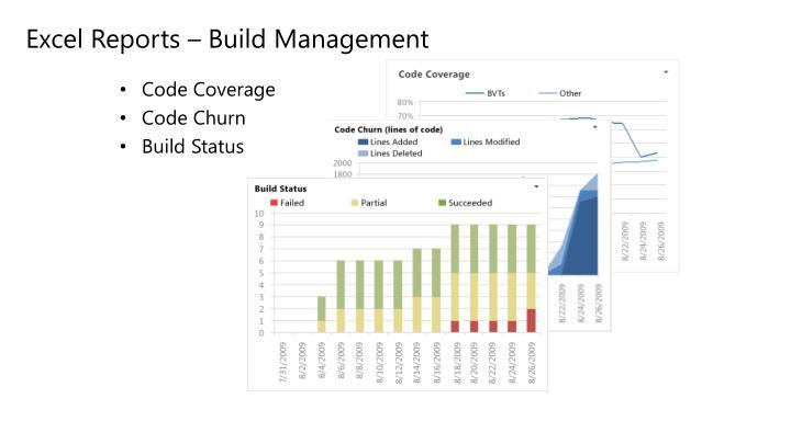 Excel Reports – Build Management