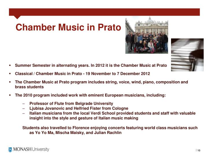 Chamber Music in Prato
