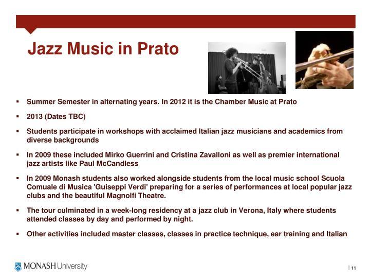 Jazz Music in Prato