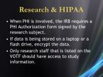 research hipaa