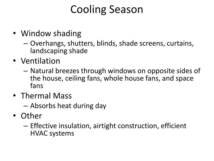 Cooling Season