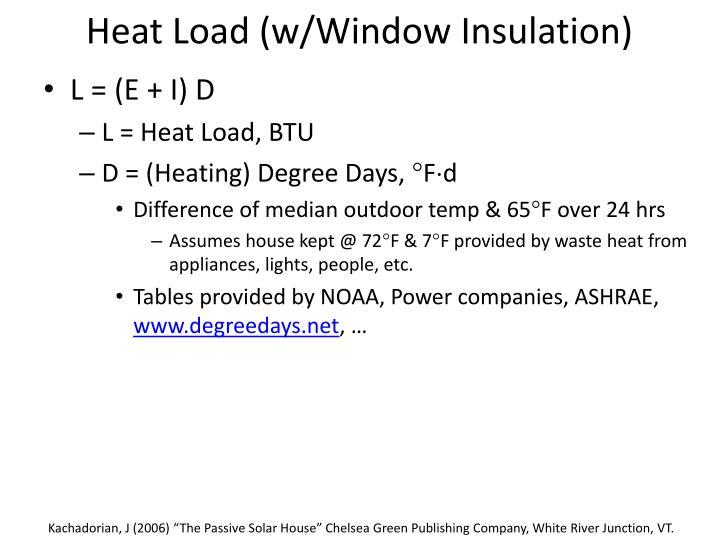 Heat Load (w/Window Insulation)