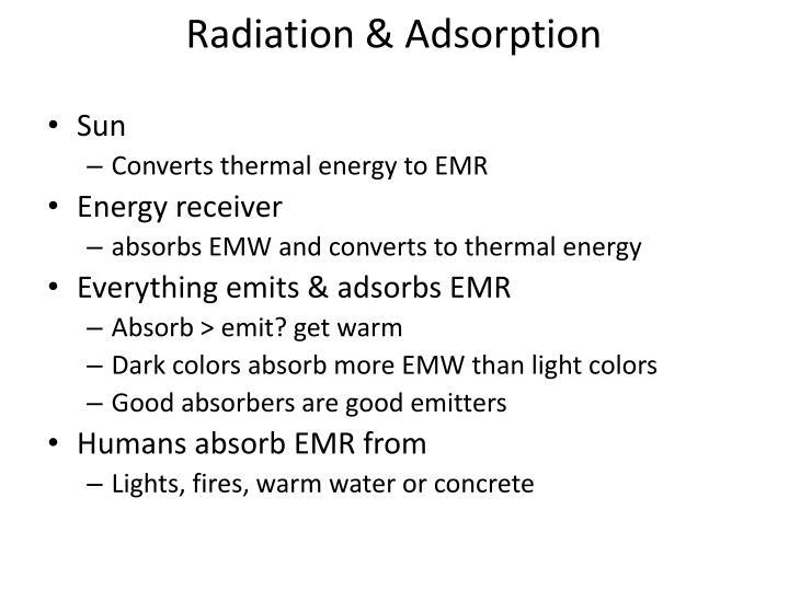Radiation & Adsorption
