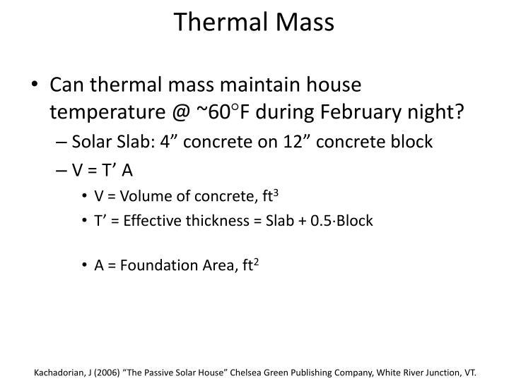 Thermal Mass