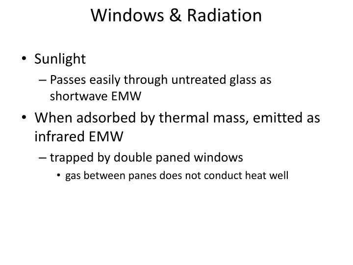 Windows & Radiation