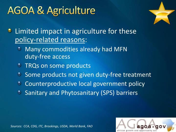 AGOA & Agriculture