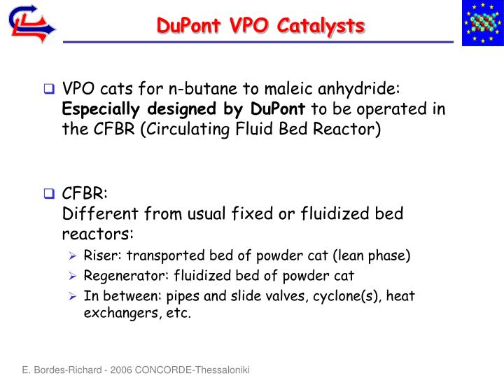 Dupont vpo catalysts