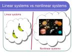 linear systems vs nonlinear systems1