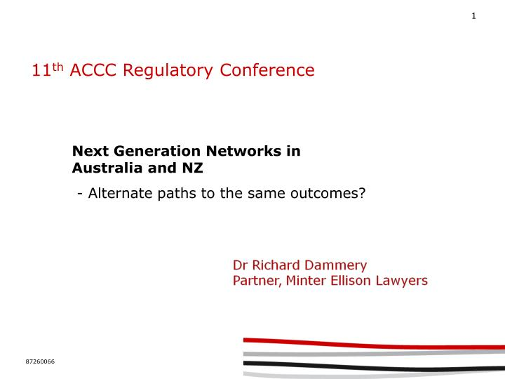 11 th accc regulatory conference n.