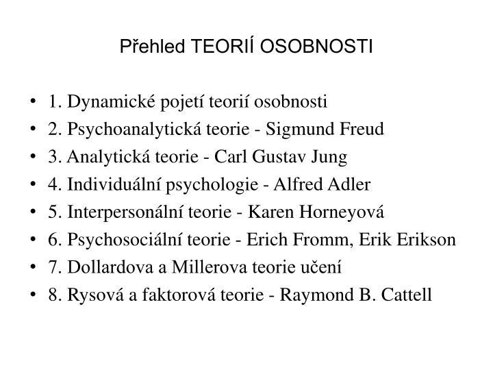 P ehled teori osobnosti1